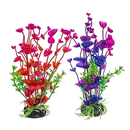 PANYTOW Aquarium Plastic Plants Fish Tank Imitation Sea Urchin Water Aquatic Grass Artificial Plants Decoration for… 1