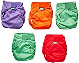 TotsBots EasyFit STAR 5 Pack of Solid Mix Reusable Washable Nappies - One Size