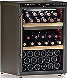 Cave à vin de service - 2 temp. - 64 bouteilles - Noir - CALICE - ACI-CAL201 - Pose libre