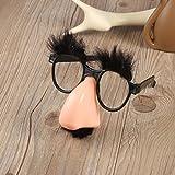 Dailyinshop Occhiali baffi finti naso pagliaccio fancy dress up costume puntelli divertente favore di partito