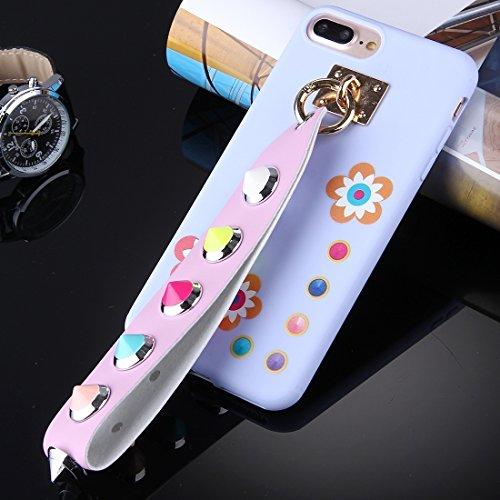 BING Für iPhone 7 Plus Orange quadratisch geformte Augenmuster Soft TPU Schutzhülle mit Niet Lanyard BING ( SKU : Ip7p1675e ) Ip7p1675f