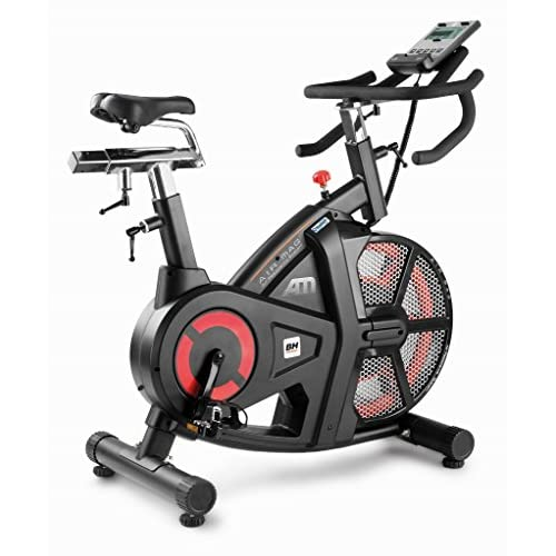 51XtD2BXdVL. SS500  - Bh Fitness Unisex's i.Air Mag Spinning Bikes, Black/Red, Large