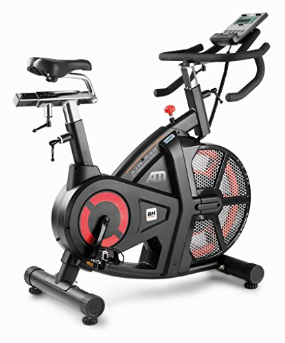 51XtD2BXdVL - Bh Fitness Unisex's i.Air Mag Spinning Bikes, Black/Red, Large
