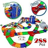 Car Track mit 2 Electric Auto Eisenbahn Autorennbahnen Montage Spielzeug Rennbahn Spiel Set für Kinder ab 3 Jahren,505 cm Länge