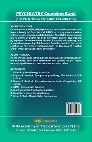 DAMS Psychiatry-Question Bank (For PG Medical Entrance Examination)