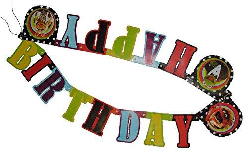 de - Muppets - Happy Birthday / Kinder Kindergeburtstag - Muppet Show Party Kermit Piggy Frosch - Wimpel Partygirlande - alle Gute zum Geburtstag - .. ()
