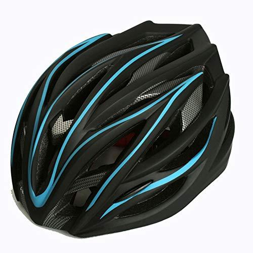 Changanfengkuo Extremsport Rollschuh Helm Fahrrad Mountainbike Integrierter Reithelm for Männer Und Frauen Dauerhaft (Farbe : Blue)
