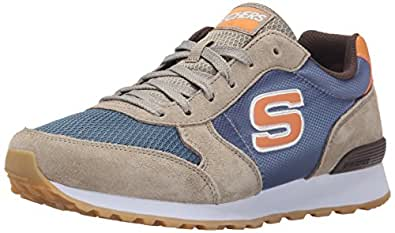 Skechers Men's Og 85- Early Grab Natural and Blue Leather Sneakers - 10 UK/India (45 EU) (11 US)