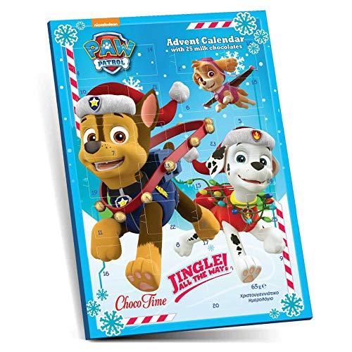 Preisvergleich Produktbild Paw Patrol Adventskalender mit 25 Schokotäfelchen - Jingle All The Way
