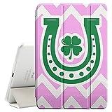 FJCases Winkelmuster Hufeisen Irisches Kleeblatt Glück (Hellrosa) Smart Cover Tablet-Schutzhülle Hülle Tasche + Auto aufwachen / Schlaf Funktion für Apple iPad Mini 4