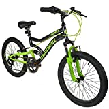 "Best Dual Suspension Mountain Bikes - 20"" Boys Dual Suspension Mountain Bike in Black Review"