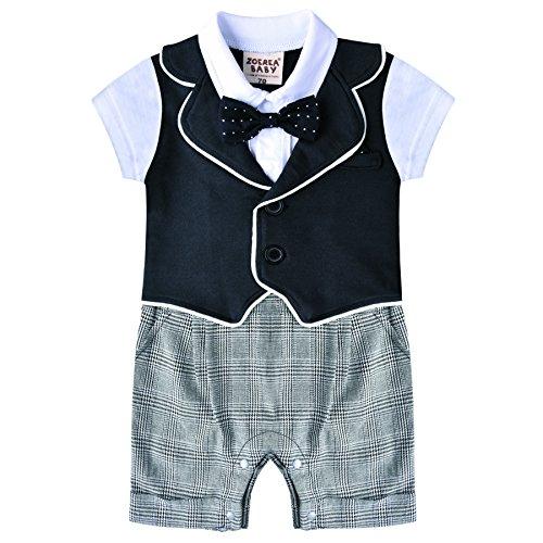 Zoerea Baby-Strampler Short Sleeve One Piece Outfits Bow Tie Infant Bodys Kleinkind Ostern Strampler Herren Neugeborene Overalls