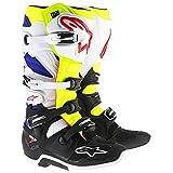 Botas moto Cross Alpinestars Tech 7blanco amarillo neón azul