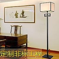 SBWYLT-Tabella cinese Lampade comodino studio camera da letto soggiorno imitazione classica in ferro battuto copre Lampade da tavolo retrò luce calda luce regolabile floor lamp