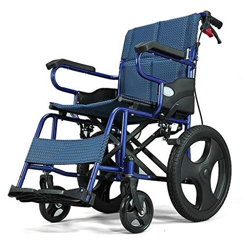 Rollstuhl Leichtgewicht-Folding, Mit Handbremse Reisen Kleine Ultra Light Tragbare Trolley for Behinderte Und Ältere Menschen