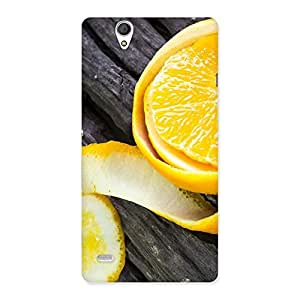 Enticing Orange Peal Blackish Back Case Cover for Sony Xperia C4
