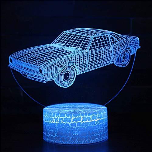 3D Illusion Nachtlampe 7 Farben Berühren Die Fernbedienung Kinder Dekoration Geburtstag Geschenk Led Schreibtisch Tisch Nachtlichttischleuchtekreative Stoßform Der Autoform, Santana-Limousine