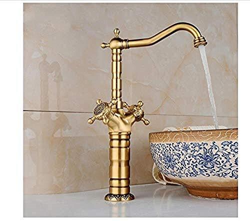 Suministros de limpieza y saneamiento Knncch Grifo Mezclador De Cocina De Bronce Frotado Con Aceite Extraíble Con Doble Rociador Del Lavabo Del Baño Grifos de lavabo