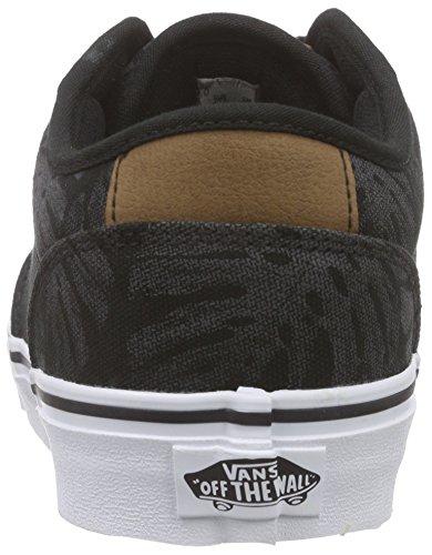 Vans Atwood Deluxe, Baskets Basses Homme Noir (Palm Leaf/Black/White)
