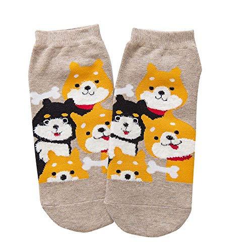 VRTUR Damen Wintersocken 1 Paar Baumwolle Socken Hund Warme Socken Cartoon Socken