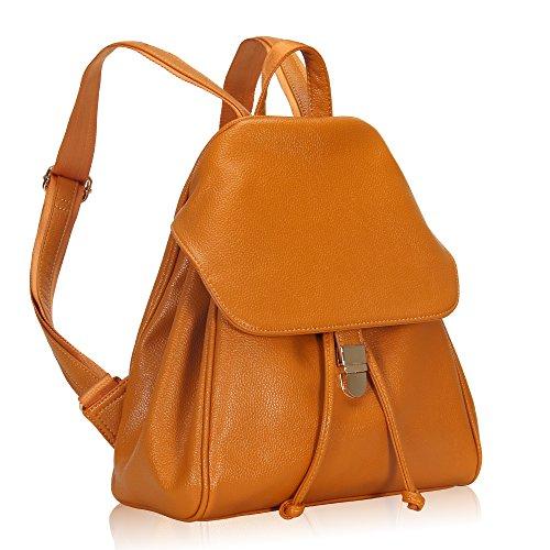 Imagen de veevan  bolso de escuela de las mujeres del bolso de la muchacha de piel sintética(naranja) alternativa