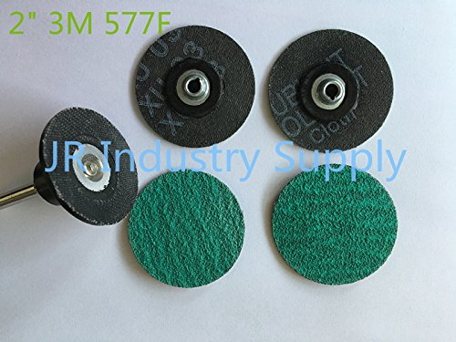 """Generic 80 : 3M 577F sanding dics 20pcs=1lot 2"""" with iron locks and one free 1/4 shank plate ping"""