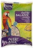 AIME Nourriture pour Perroquet, NUTRI'BALANCE Repas pour Perroquets, Sac de 3KG - Lot de 2