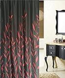 ZBB der Duschvorhang aus Schwarzem Polyester Wasserdicht europäischen Gewebe Rideau Verdickung mit Badewanne Badezimmer Haken (Farbe: Rot Größe: 1,8 x 2 M)