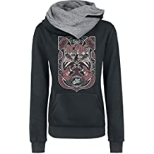 AC/DC Crossed Strings Jersey con Capucha Mujer negro/gris melé