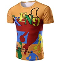 Camiseta impresa _3d de manga corta con cuello redondo T-shirt,XXL