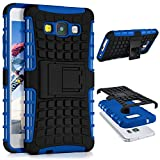 ONEFLOW Samsung Galaxy A5 (2015) | Hülle Silikon Hard-Case Blau Outdoor Back-Cover Extrem Stoßfest Schutzhülle Grip Handyhülle für Samsung Galaxy A5 2015 Case Rückseite Tasche