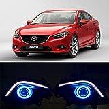 eeMrke EE-2015Y02-AE5106 Auto Angel Eyes DRL LED Tagfahrlicht Halogen Nebelscheinwerfer Kits für Mazda6 Typ GJ, seit 2012 Bis 2016