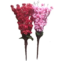 Sofix Beautiful Cherry Peach Blossom Artificial Flower Bunch for Vase, Home, Office, Hotel Decor (Pink and Red, 20 Inch…