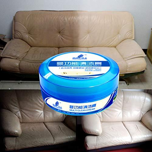 Hunpta Crème de nettoyage multifonction pour cuir de canapé bleu