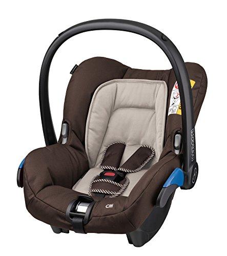 Maxi-Cosi Citi Babyschale, Kinderautositz, Auto-Kindersitz Gruppe 0+, braun