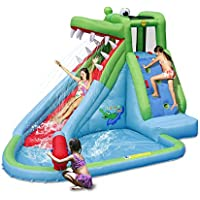 Duplay 11.5ft Crocodile Creek Waterslide with Pool and Water Cannon