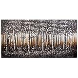 Arte dal Mondo AS371X1 Bosque en plata Pintura paisaje moderno realizada a mano y montada sobre bastidor grueso