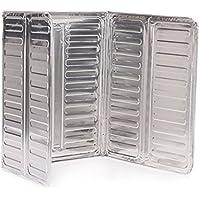 Oumosi - Protector de Salpicaduras de Aluminio Reutilizable para cocinas de Gas Fácil de almacenar