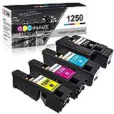 GPC Image 1250C Toner Patronen Ersatz für Dell 1250 1250c 1350cnw 1355cn 1355cnw C1760 C1760nw C1765 C1765nf C1765nfw (1Schwarz/Cyan/Magenta/Gelb, 4-Pack)