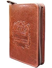 Abys Brown Genuine Leather Women Wallet||Passport Wallet||Business Card Holder||Card Stock||Passport Holder||Card...