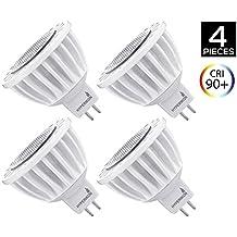 Hyperikon Foco Spot LED GU5.3, Bombilla MR16 Regulable, 7W, Blanco Neutro (4000K), 12V, Iluminación de Techo para Cocina, Pasillo, Habitaciones - Paquete de 4