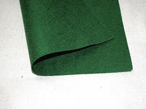 X 2 en feutre auto-adhésifs carrés Motif en feutrine-tissu Vert foncé (Olive)