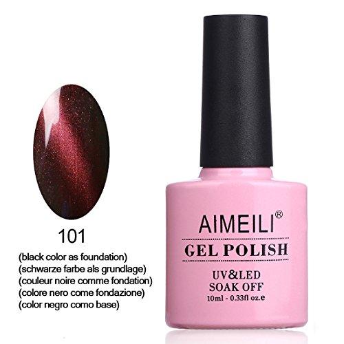 AIMEILI UV LED Gellack Magnetisch Cat Eye Range Gel Nagellack Rot Gel Polish - Piercing Persian Red (101) 10ml
