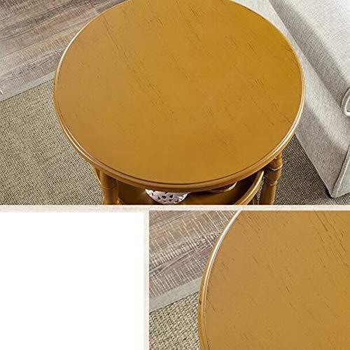 MDD Regal rundes regal sofa beistelltisch einheit lagerung display wohnzimmer badezimmer 4 farben 51 x 62,5 cm regal platzsparend und einfach zu installieren,Tawny (Aktenschrank Beistelltisch)