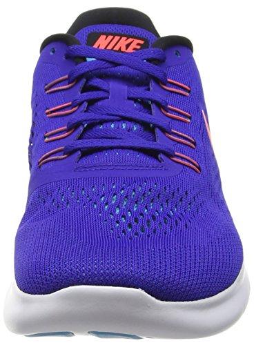 Nike Free Rn Scarpe da Ginnastica Blu (Bleu/Orange/Blanc)