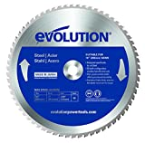 Evolution Power Tools–acciaio EVOBLADE255Evolution 255mm in acciaio al carburo lama, 0V, argento, 255mm