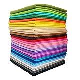 YXJD Bastelfilz Set Weich Vliesstoff Mehrfarbig Filzstoff