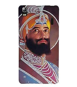 Guru Gobind Singh Ji 3D Hard Polycarbonate Designer Back Case Cover for Lenovo A7000 :: Lenovo A7000 Plus :: Lenovo K3 Note