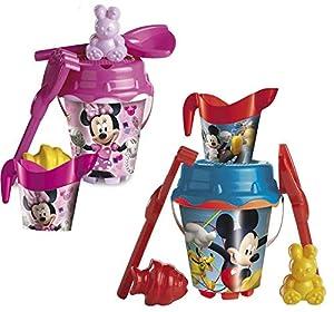 UNICE Set cubo castillo Mickey Mouse/ Minnie Mouse de 18 cm con regadera, Producto Surtido (312022)