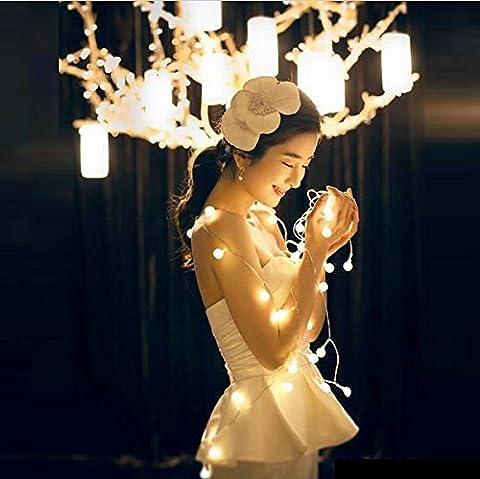 Ulako Lumineuses Boules 100 LEDs10 Mètres Blanc Chaud Décoration Pour Nouvel An Noël Jardin Mariage Anniversaire Cadeaux Terrasse Pelouse